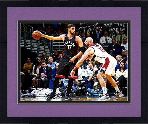 Toronto Raptors Framed (Framed Jonas Valanciunas Toronto Raptors Autographed 16