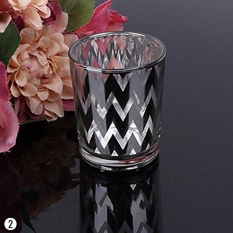 Calistouk mosaico tazza di vetro portacandele tealight votive Holder wedding Home party Decor Color02#
