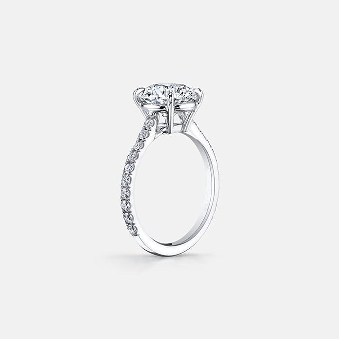 3 Carat corte redondo Cubic Zirconia plata de ley 925 mujeres boda compromiso anillos: Amazon.es: Joyería