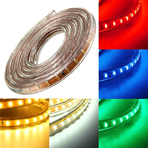 Lights & Lighting - 1m Smd3014 Waterproof Led Rope Lamp Party Home Christmas Indoor/Outdoor Strip Light 220v - Waterproof Strip Lights Light Lighting Ever 5000028 B019q3u72m White Strips - 1PCs