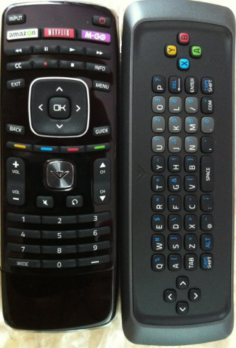 (New Smart TV QWERTY Dual Side Keyboard Remote Control for XVT323SV XVT373SV XVT423SV XVT473SV XVT553SV -This is Original Remote, do not Need Any Program, only Put into Battery can Work)