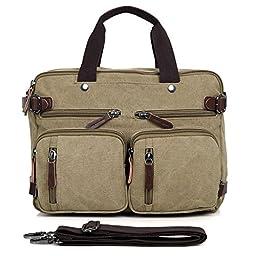 Clean Vintage Hybrid Backpack Messenger Bag   Convertible 14\