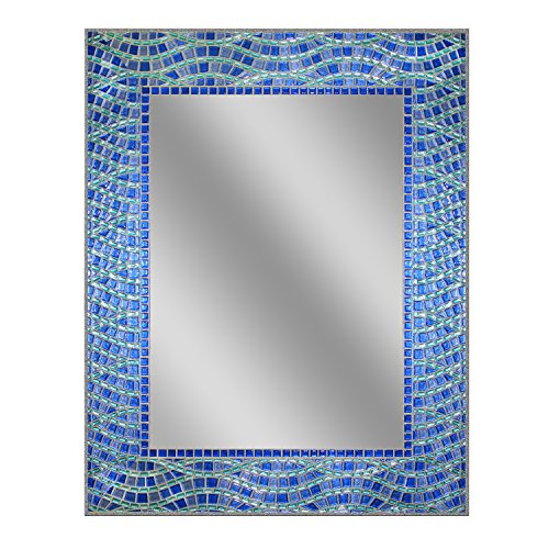 Head West 24 x 30 Blue Ocean Mirror, 24x30 - Lowes Mirrors Coastal Bathroom