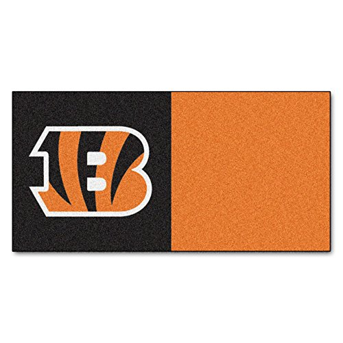 (FANMATS NFL Cincinnati Bengals Nylon Face Team Carpet Tiles)