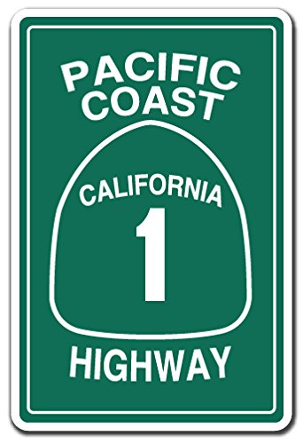 Used, Pacific Coast Highway California 1 Aluminum Sign Road for sale  Delivered anywhere in USA