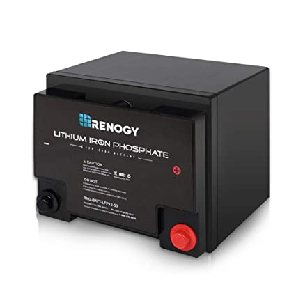 Amazon Com Renogy 50 Ah Lithium Iron Phosphate Battery 12 Volt 50ah