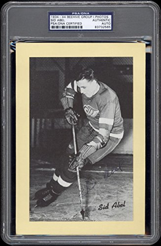 1934-44-Beehive-Sid-Abel-HOF-Detroit-Red-Wings-AutographedSigned-PSADNA-Certified-Hockey-Slabbed-Autographed-Cards