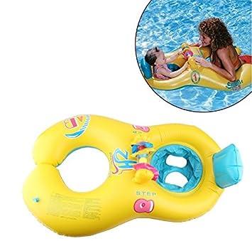 Inflable bebé piscina flotador, TechCode 0 – 18 meses bebé Swim Flotador inflable, seguro