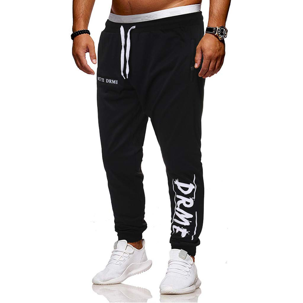 Men's Elastic-Waist Drawstring Pants Trouser Outdoor Hiking Sweatpants for Sport Exercise Travel,Quick-Dry,Stretch with Pockets S-2XL by VEZARON (Image #3)