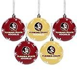 FOCO Florida State 2016 5 Pack Shatterproof Ball Ornament Set