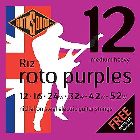 Rotosound R12 - Juego de cuerdas para guitarra eléctrica de níquel, 14 18 28 38 48: Amazon.es: Instrumentos musicales