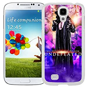 Customized Samsung Galaxy S4 I9500 Cell Phone Case Wwe Superstars Collection Wwe 2k15 The Undertaker 07 in White Phone Case For Samsung Galaxy S4 Case
