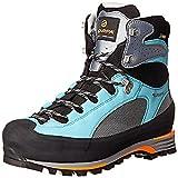 Scarpa Women's Charmoz Pro GTX Mountaineering Boots Grey / Maldive 37.5 & Etip Lite Gripper Glove Bundle