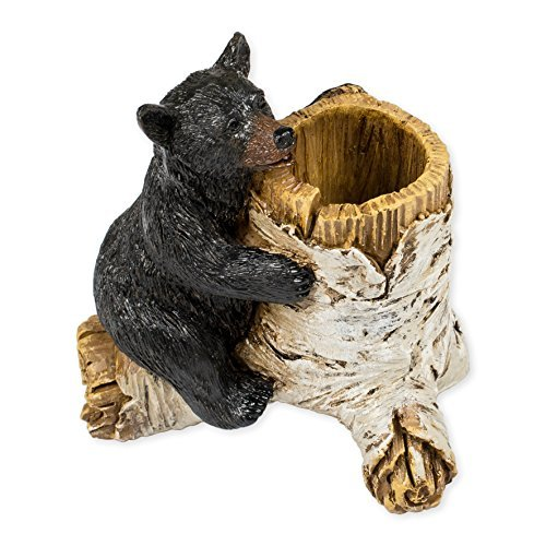 Bear Toothpick Holder 4 x 3 x 4 Inch Resin Crafted Tabletop Figurine by Slifka Sales Company