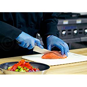 AMMEX GlovePlus Blue Vinyl Disposable Gloves - food prep