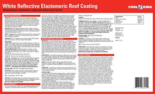 Amazon.com: Jetcoat Cool King Elastomeric Acrylic Reflective Roof Coating, White, 5 Gallon, 7 Year Protection: Automotive