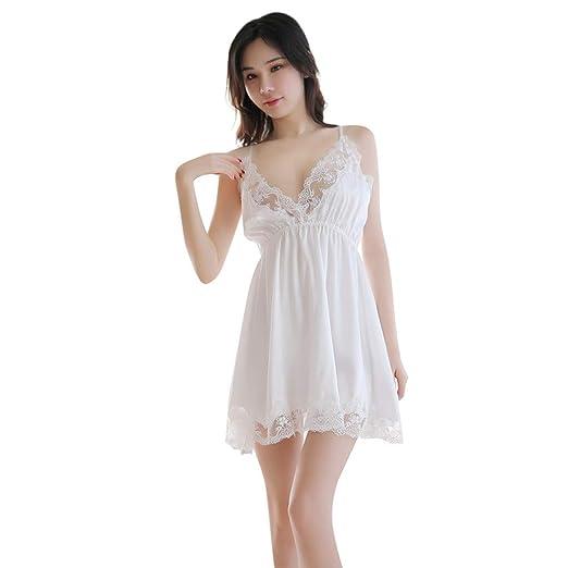 65b71e46f PASHY Pajamas Set 2019 New Women s Sexy Lace Nightdress Lingerie Sleepwear  Sexy Sling Pj Lounge Sets