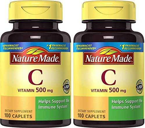 Nature Made Vitamin C 500 mg Caps, 100 ct (Pack of 2)