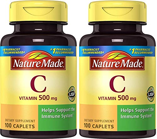 Nature Made Vitamin C 500 mg Caps, 100 ct (Pack of ()