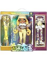 Rainbow High Winter Break Sunny Madison - Gele Fashion Doll met 2 outfits, sneeuw uitrusting & standaard - Inclusief Ski's, schaatsen, accessoires & meer - Cadeau & Verzamelbaar voor kids van 6+ jaar
