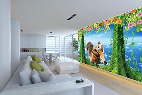 3D Cartoon Squirrel Tree 5 Wall Paper Indoor Wall Mural
