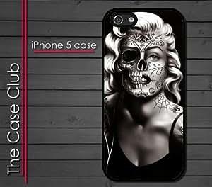 iPhone 5 Rubber Silicone Case - Marilyn Monroe Day of the Dead Sugar Skull Tattoos Dia de Los Muertos
