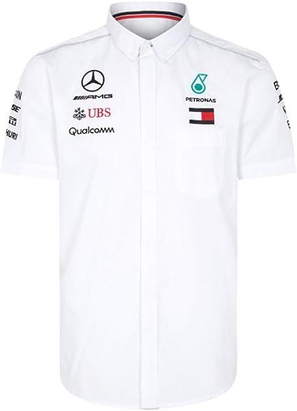 Mercedes AMG Petronas F1 Motorsport Drivers Camiseta Blanco Oficial 2019