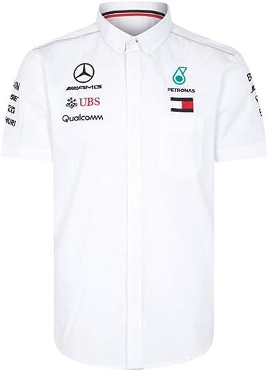 Mercedes AMG F1 Team Driver Puma Camisa Blanco Oficial 2018: Amazon.es: Ropa y accesorios