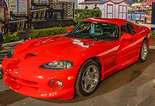 Yilooom Exotic Dodge Viper in Red - Car Poster - Car Print - Sports Car Photo - Wall Art ()