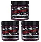 permament Manic Panic Semi-Permament Haircolor Plum Passion 4oz Jar (3 Pack)