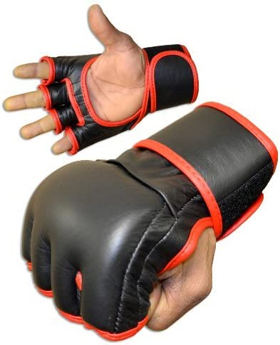 MMA Fight Gloves – すべてのレザー  Small