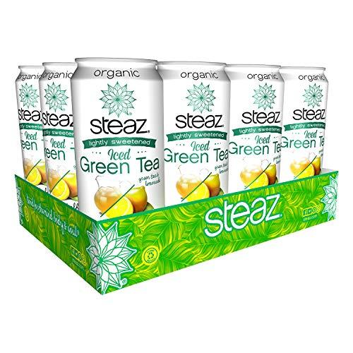 Steaz, Iced Green Tea Half and Half Green Tea & Lemonade, 16 Fl Oz, 12 - Syrup Water Corn