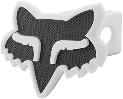 Black//White Fox Racing Hitch Cover