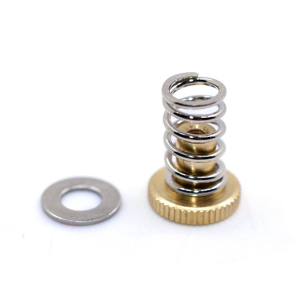 4pcs WINGONEER Adjustment Spring+Hand-Twist Knurled Adjusting Screw+Gasket for UM2 Ultimaker2 Heat Bed 3D Printer