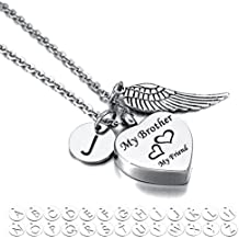 Valyria My Husband My Friend Urn Heart Pendant Necklace Memorial Ash Keepsake