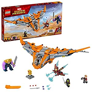 LEGO 76107 Marvel Avengers Thanos Ultimate Battle Playset, The Guardian's Ship, Iron Man, Star-Lord, Gamora & Thanos Action Figures, Superhero Toys for Kids