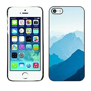 iPhone 5 / 5S , JackGot - Impreso colorido protector duro espalda Funda piel de Shell (Blue Mountains)