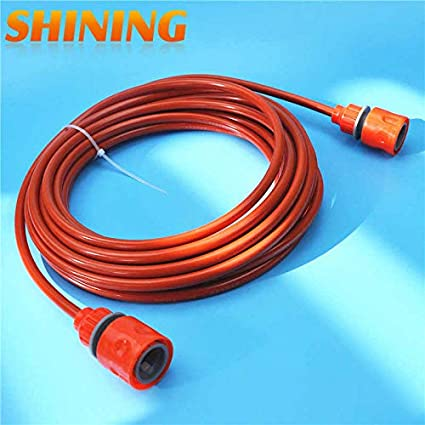 7m Orange PU Car Washing Garden Watering Hose Pipe with Quick Connector High Pressure Car Washer Pipeline Conduit 5 * 8mm Pressure Washers, Steam   Wi
