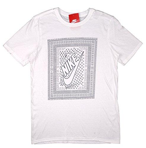 Nike Men's Chainlink Futura T-Shirt X-Large White (Chain Link T-shirt)