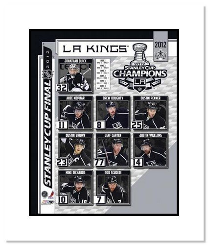 2012 Los Angeles Kings NHL Double Matted 8x10 Photograph Stanley Cup Champions Collage