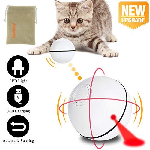 AceLife Katzenspielzeug Ball mit LED Licht, Elektrisch Katzen Spielzeug Ball Automatischer Rollender Katzen Ball…
