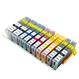 InTeching PGI-250 XL/CLI-251 XL Compatible Printer Ink Cartridges Replacement for Canon PIXMA MX922 MG7520 MG5520 MG5420 MG7120 MG6620 MG5620 MG6320 iP7220 and More (2PGBK, 2C, 2M, 2Y, 2BK, 10 Packs)