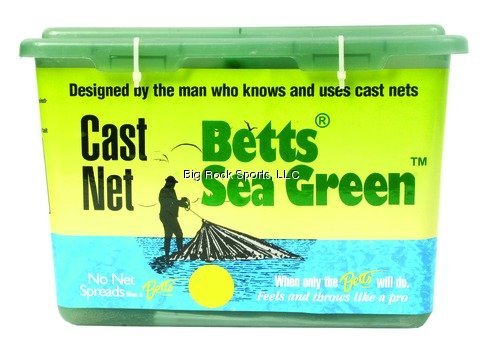 - Betts 14-10 Professional Series Live Bait and Shrimp Mono Cast Net, 10-Foot Length, 5/8-Inch Mesh, Sea Green Finish