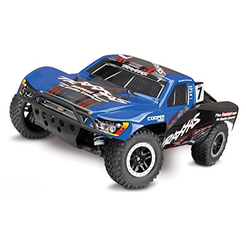 h 4X4 1/10 Scale 4WD Short Course Truck with TQi 2.4GHz Radio and TSM Blue ()