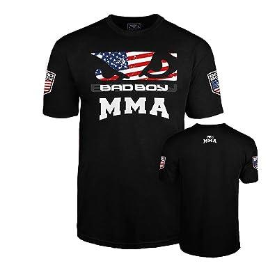 496e1ced Amazon.com: Bad Boy USA MMA American Flag T-Shirt: Clothing