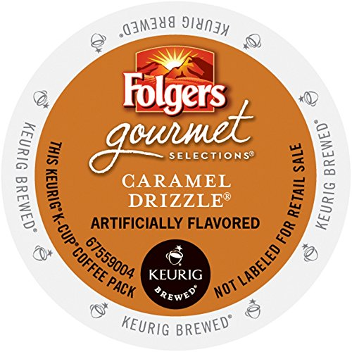 Folgers Gourmet Selections K-Cup Single Cup for Keurig Brewers, Caramel Drizzle, 24 Count