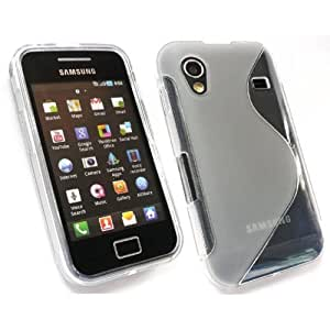 Shawnex S-Line Back Flexible Cover TPU Case for Samsung Galaxy Ace S5830 - Clear
