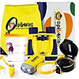 Educational Outdoor Explorer Toys For Kids | Early Learning Adventure Exploration Kit | Backpack, Compass, Binoculars, Hand Crank Flashlight, Magnifying Glass, Bug Container, Whistle | Camping, Hiking