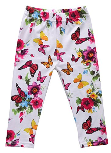 Flowers Butterfly Printed Leggings Cotton