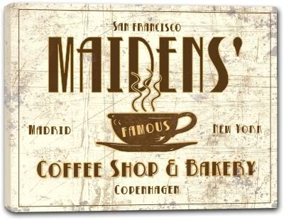 Maiden Coffee (MAIDENS' Coffee Shop & Bakery Stretched Canvas Print 16